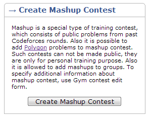 New year update: Mashup contests - Codeforces
